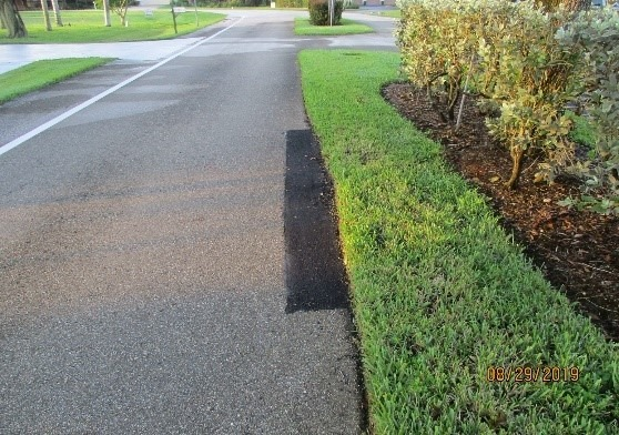D&G returned and completed the additional repairs in front of 170 & 182 Newport Drive. Picture #2.