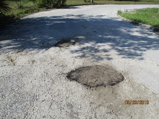 The small pothole on Union Road on the east side of the old hotel has been filled in.