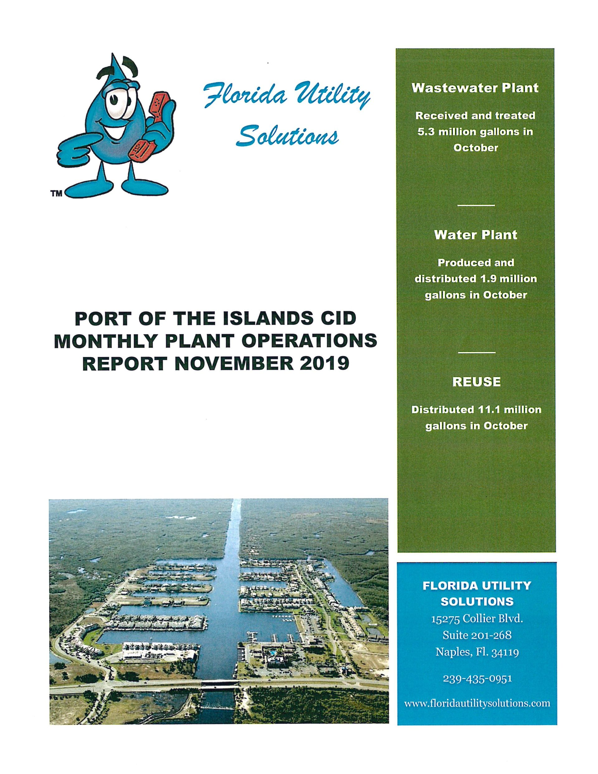 Port of the Islands FUS report cover
