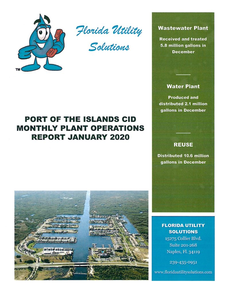 Port of the Islands CID: Florida Utility Solutions Cover Sheet December 2019